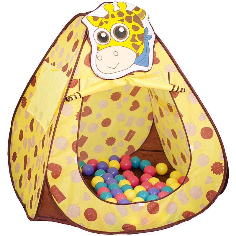 Игровой Дом Alis Жираф с шарами 100шт 130x70x80cm CBH-11<br>
