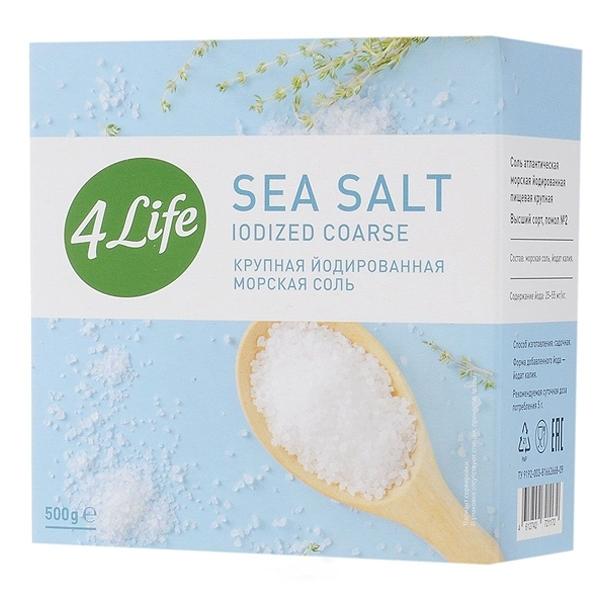 Соль 4 LIFE Крупная йодированная (картон)<br>