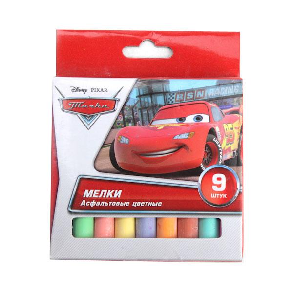 Мел асфальтовый Multiart Disney Cars 9 цветов<br>