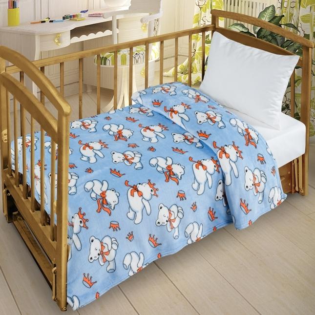Плед Letto Велсофт-беби в кроватку VB05<br>