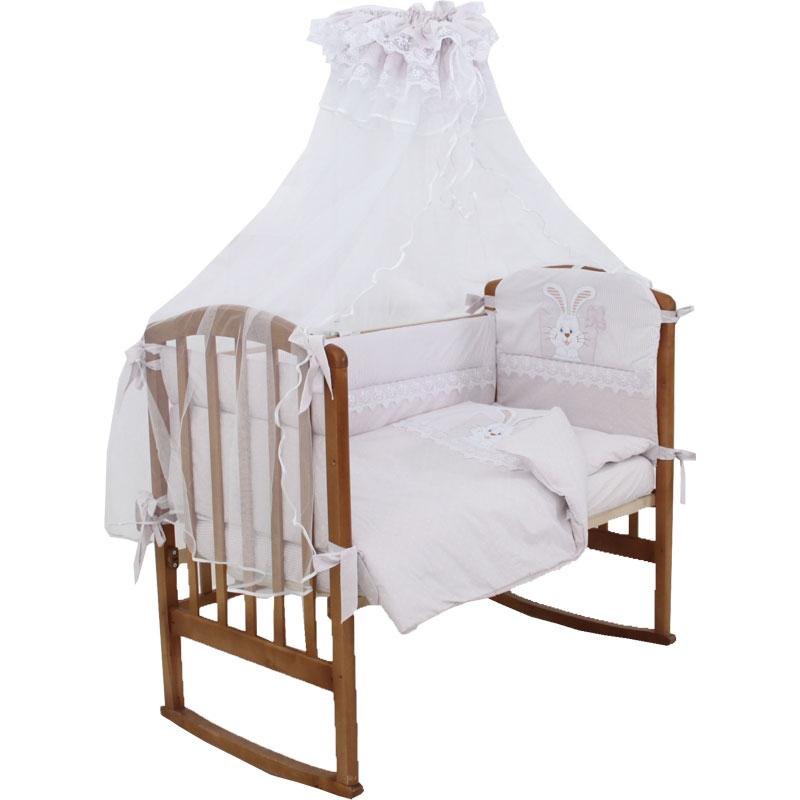 Комплект Папитто Котик 7 предметов борта со съемными чехлами Сиреневый