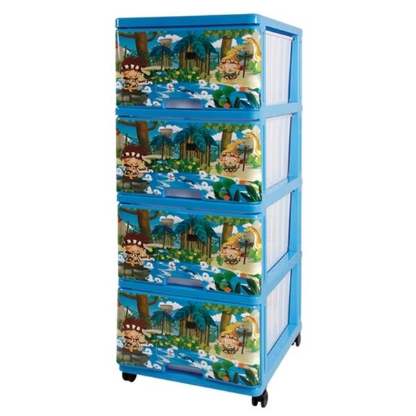 Комод для игрушек Dunya Декор Джунгли Синий<br>