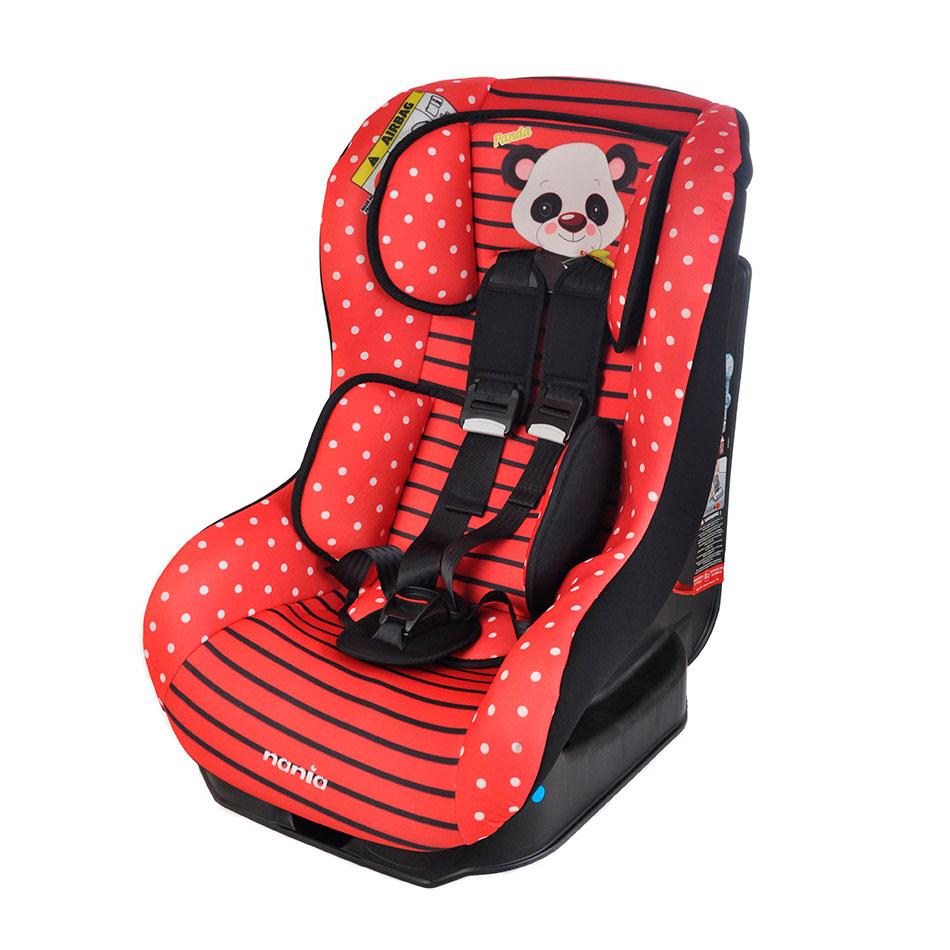 Автокресло Nania Driver 0-18кг Animals Panda Red<br>
