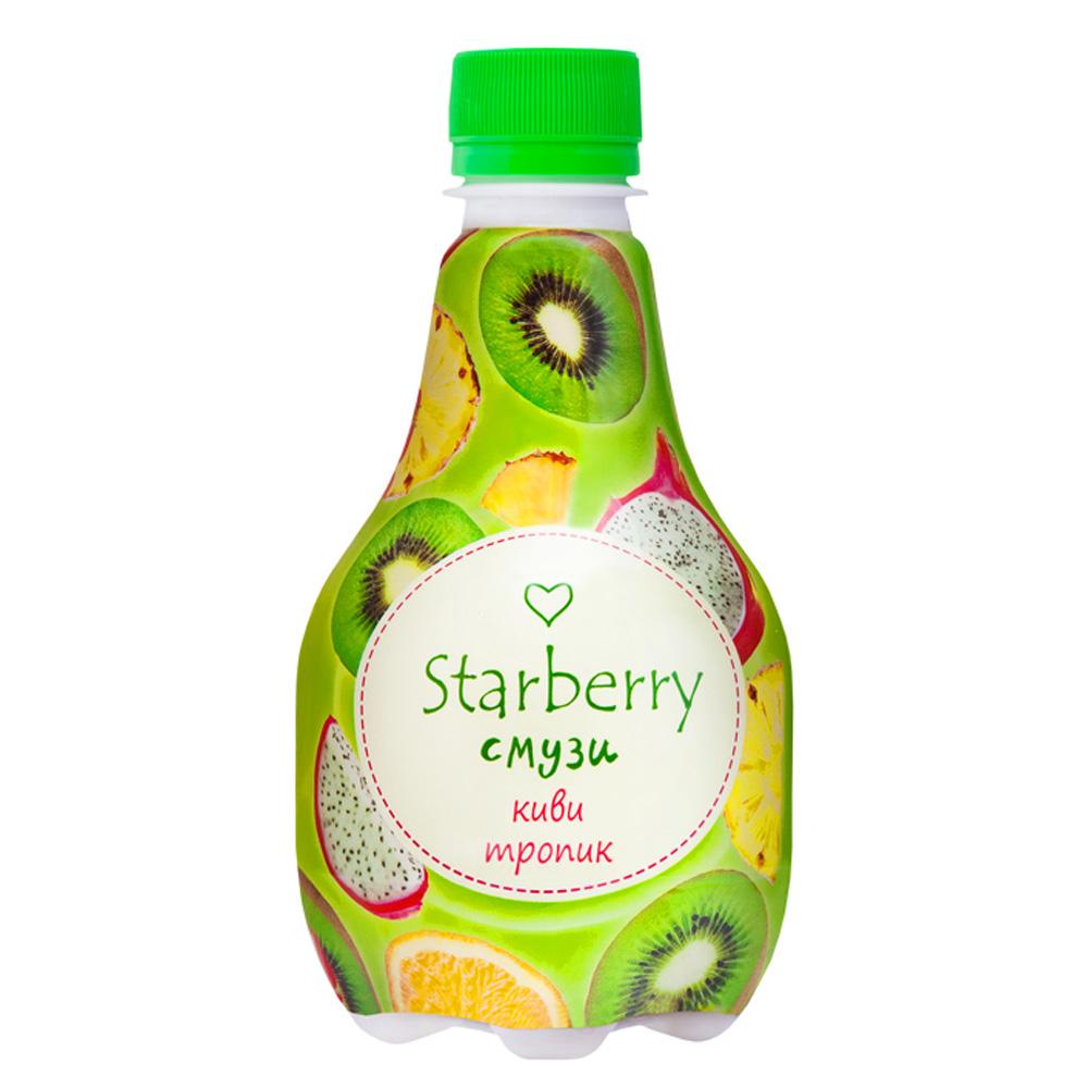 Смузи Starberry с пюре и соком 0,375л киви и тропик