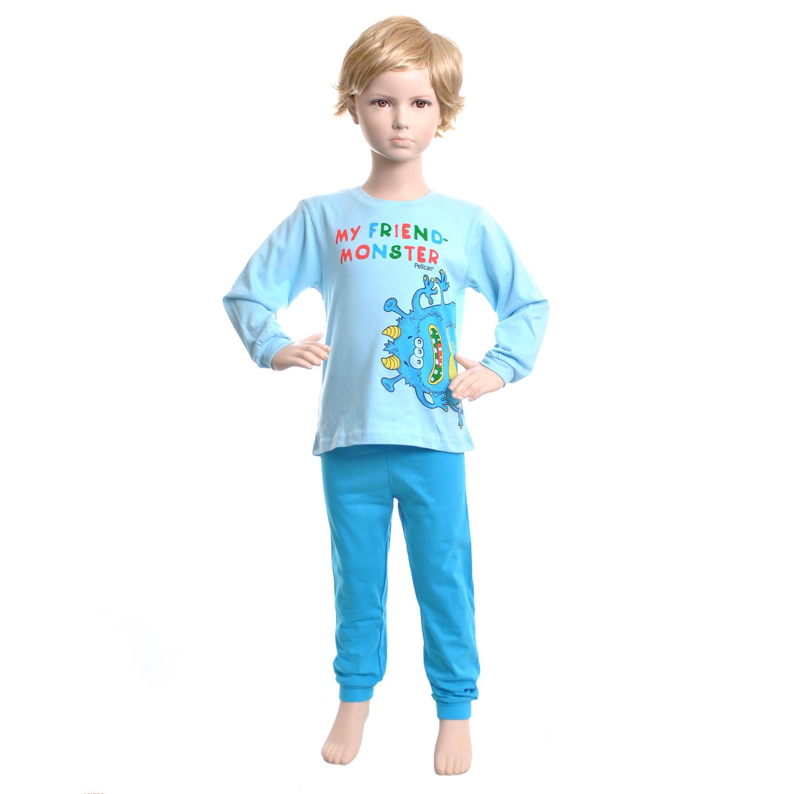 Пижама Pelican цвет Голубой BNJP303(1-4) возраст 12-18 мес.