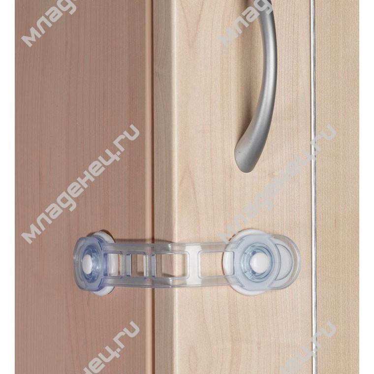 Защита двери Clippasafe Универсальный угловой замок на присоске (белый)