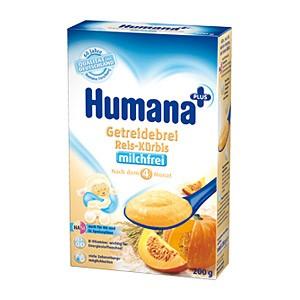 Каша Humana безмолочная 200 гр Рисовая с тыквой (с 5 мес) от Младенец.ru