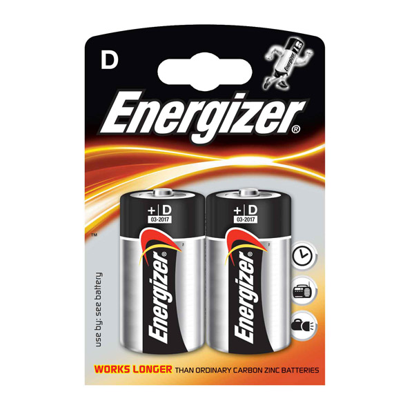 Батарейка Energizer D/LR20 2 in