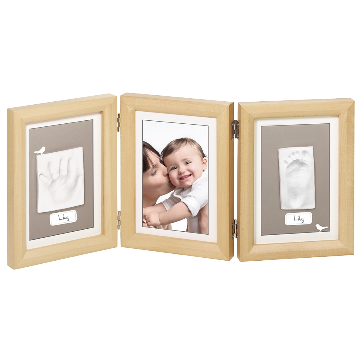 Рамочка Baby Art Double Print Frame (тройная) Натуральный