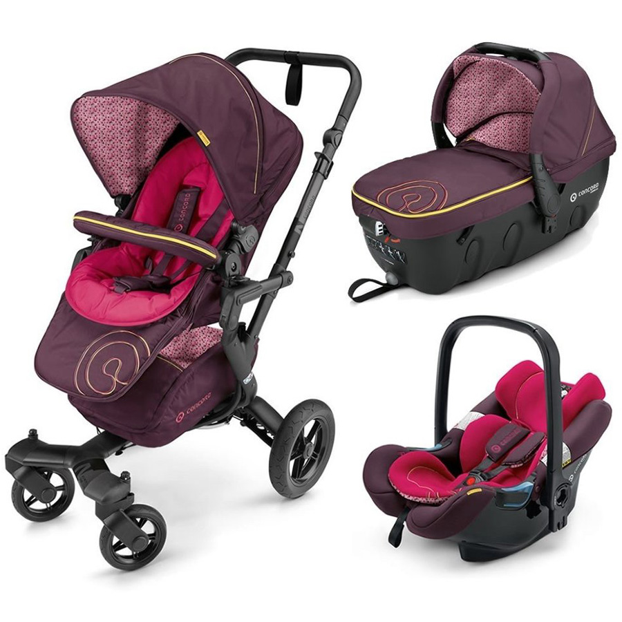 Коляска Concord Neo Travel Set 3 в 1 Rose Pink