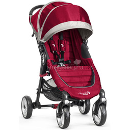 Коляска Baby Jogger City Mini Single 4Weel Красная с серым