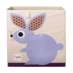 Коробка для хранения 3 Sprouts Кролик (Purple Rabbit) Арт. 27251