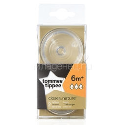 Соска Tommee tippee Closer to nature 2 шт (с 6 мес) быстрый поток