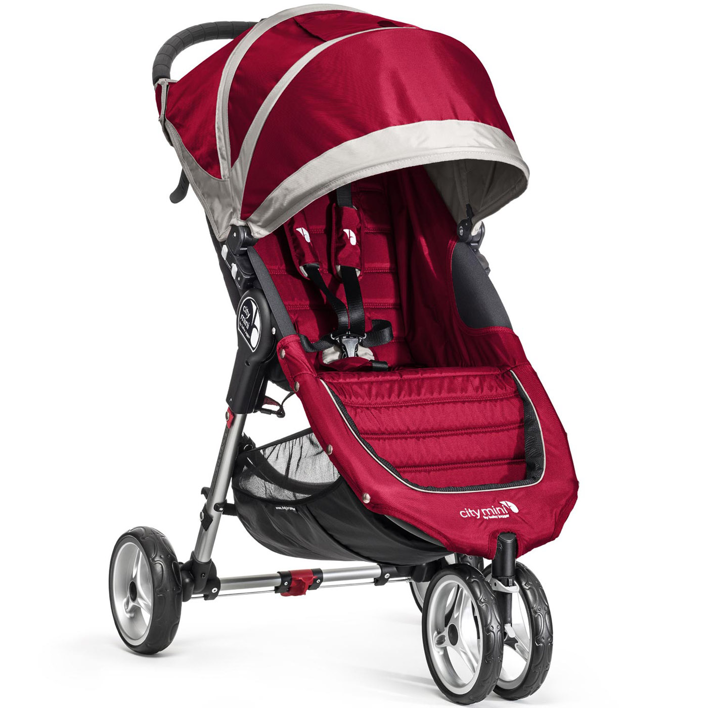 Коляска Baby Jogger City Mini Single Красная с серым