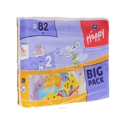 Подгузники Bella Baby Happy Mini 3-6 кг (82 шт)