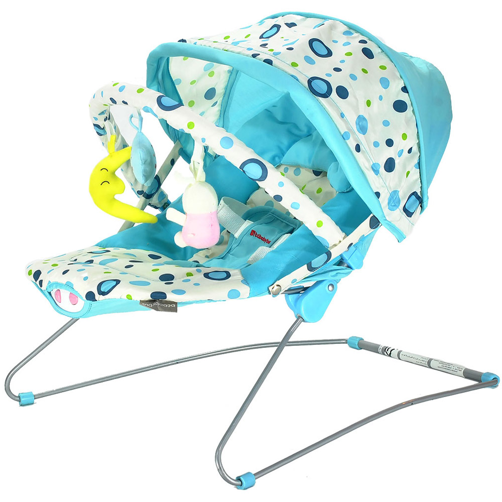 Шезлонг BEBABYBUS Baby Bouncer UC42 Blue