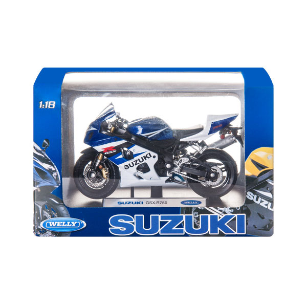 Мотоцикл Welly MOTORCYCLE / SUZUKI GSX-R750 1:18