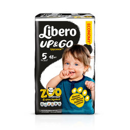 Трусики Libero Up&Go Zoo Collection Size 5 (10-14кг) 48 шт