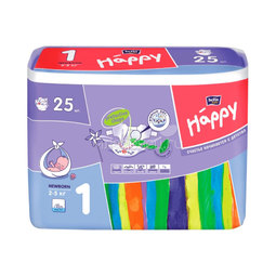 Подгузники Bella Baby Happy Newborn 2-5 кг (25 шт)