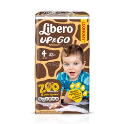 Трусики Libero Up&Go Zoo Collection Size 4 (7-11кг) 52 шт