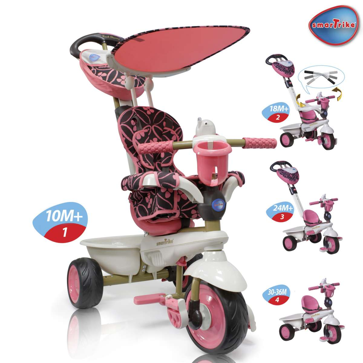 Велосипед Smart Trike Dream Touch Steering Розовый