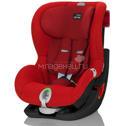 Автокресло Britax Roemer King II LS Black Series Flame Red Trendline