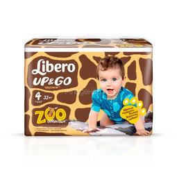 Трусики Libero Up&Go Zoo Collection Size 4 (7-11кг) 32 шт