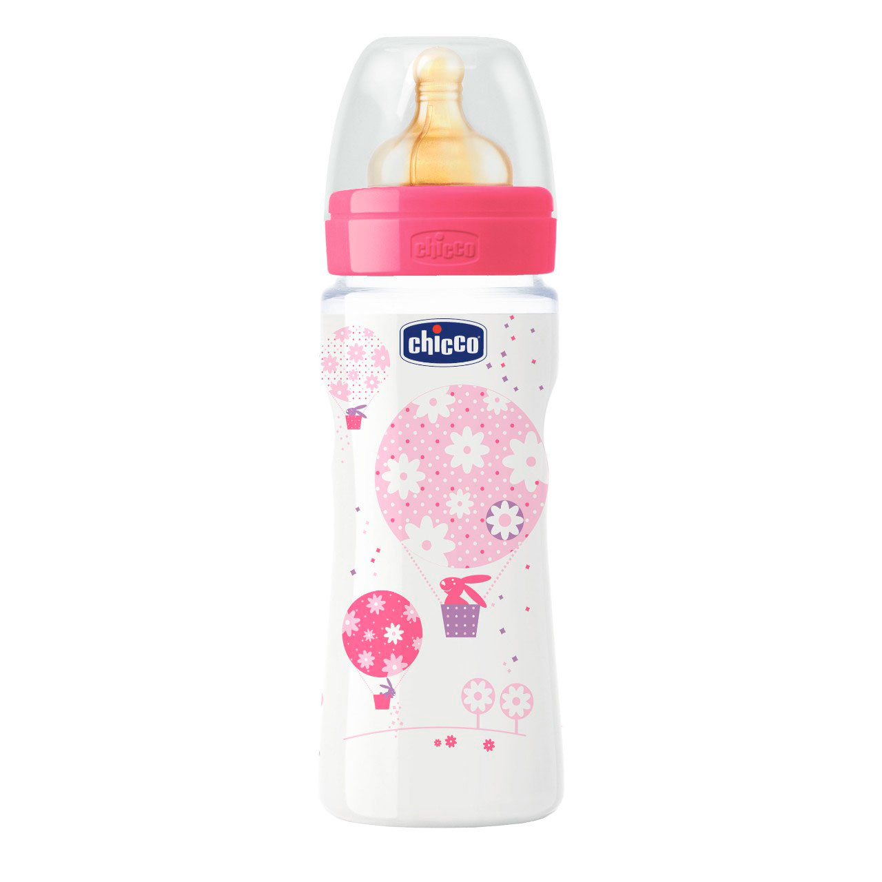 Бутылочка Chicco Well-Being Girl (с 4 мес) 330 мл