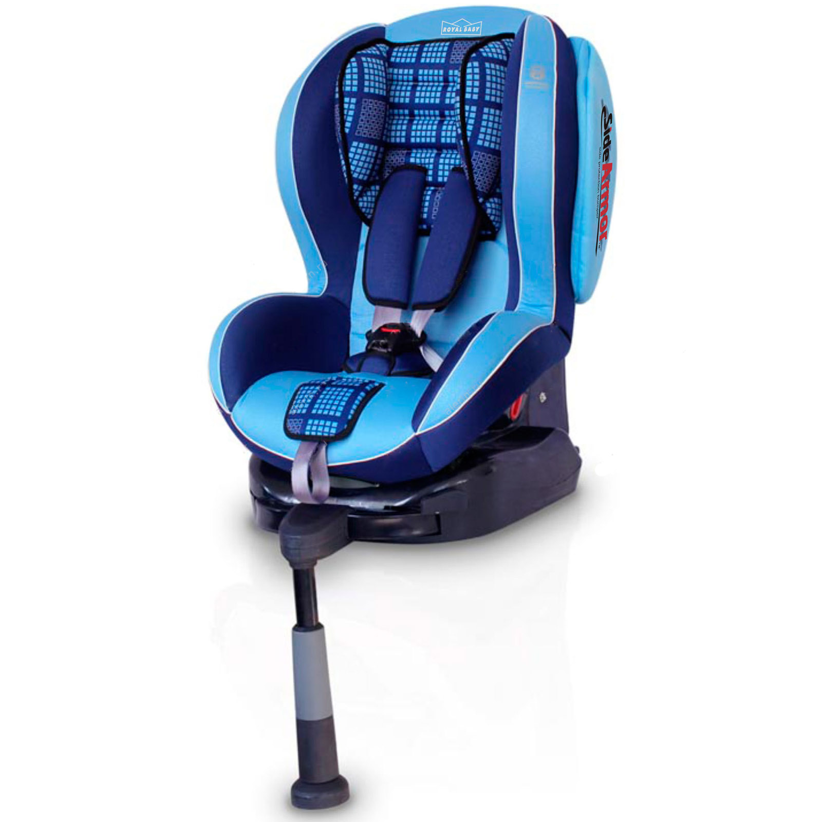 Автокресло Welldon Royal Baby Side Armor & Cuddle Me ISO-FIX Blue
