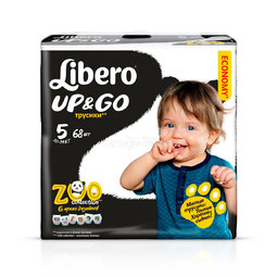 Трусики Libero Up&Go Zoo Collection Size 5 (10-14кг) 68 шт