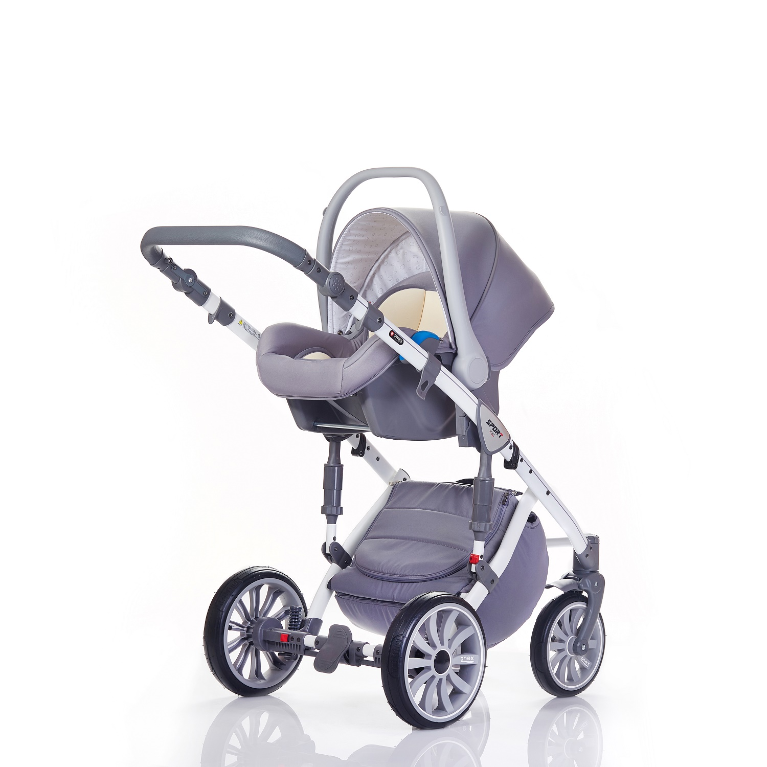 Коляска Anex Sport 3 в 1 Q1 PA07 gray+light-blue (ANEX)