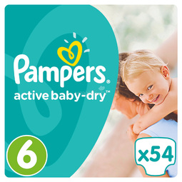 Подгузники Pampers Active Baby Extra Large 15+ кг (54 шт) Размер 6