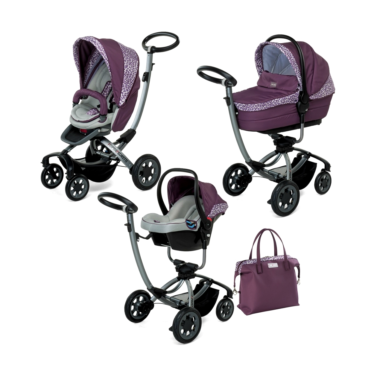 Коляска 3 в 1 Foppapedretti Myo Travel System VioletGungle