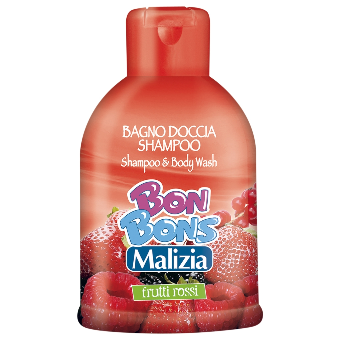 Шампунь-гель Malizia Bon Bons для душа Red fruits 500  мл