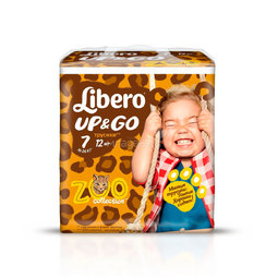 Трусики Libero Up&Go Zoo Collection Size 7 (16-26кг) 12 шт