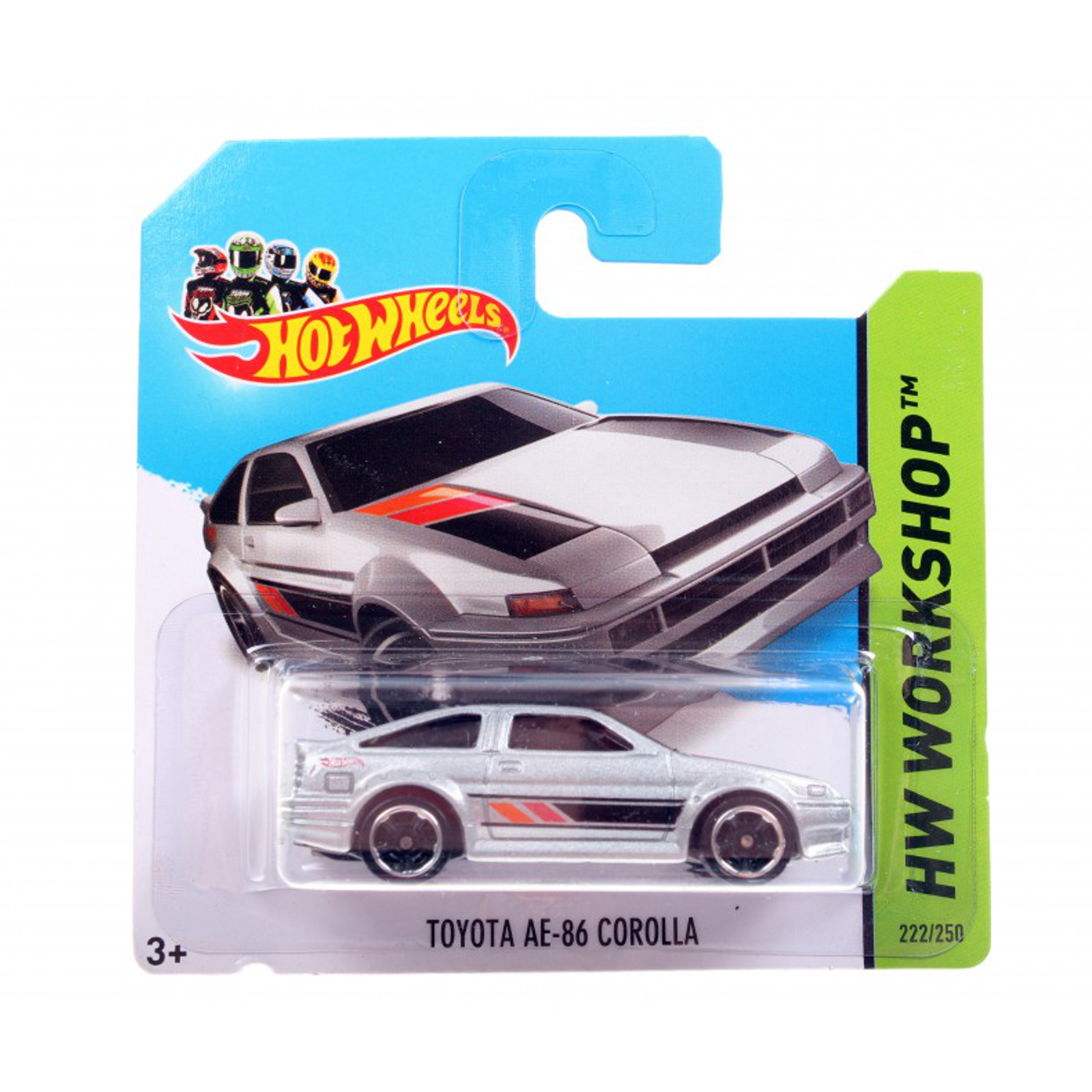 Мотогонщики Hot Wheels для треков Toyota AE-86 Corolla